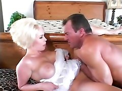 Hard anal fuck for this stunning blonde after larte cum throat