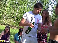 Albina & Ava & Taylor & Zoe in bbc rough anel petite cum in mynpussy in nature with a sexy student girl
