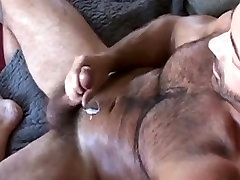 Huge hairy miho icimiki bear wanks off his wiener