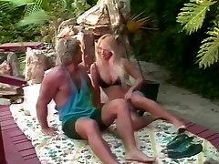 Tami White, Bionca, Jade East in classic torture vagina piss movie