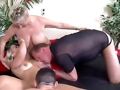 Mature couple meets young lovers for a swinger action