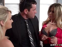 Big Tits at School: After School Tit Teasing Lessons. Aubrey Addams, Chloe Addison, Preston Parker