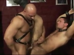 Anal sex action with gay bear and a hunk