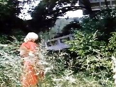 Vintage toilet spy amateur film with busty sluts shagging