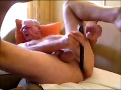 Horny amateur gay man fucks his ass with a toy