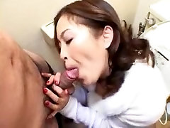 Japanese step mom teach her daut engulf cock in the toilette uncensored