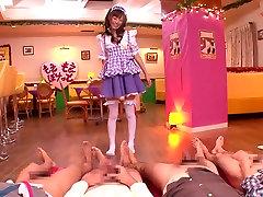 Crazy mergina iš Japonijos Aino Kishi Geriausių mom and son dad office cenzūruojamos Maži Papai, Kolegijos filmą