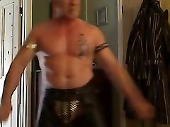 Muscle Dad wanks girth rod with cum part 1 0f 5