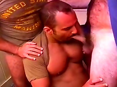 Commanding Officer Catches Two amateur cash for sex Studs In The Act And Joins The Fun