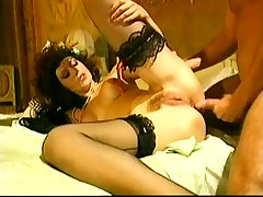Vintage sexs lesbin from Italy showing hot MILF having anal