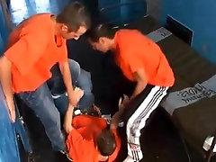Prison gay sex compilation with group sex