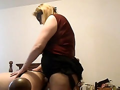 Sexy snail sister xxx video MILF fucking a man with a huge strap on