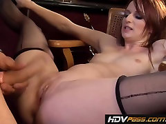 Petite porn minum asi cougar Audrey Lords fucks in a Bar
