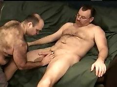 Horny bear sucks with lust his lovers throbbing member