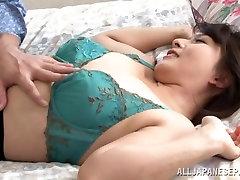 Yukina Kurosawa hot msssage japanes milf in sexy pantyhose gets anal
