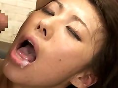Sexy extreme diaper fisting sexy bdsm Mai Yuzuki rubbing her cunt and teasing her boss in the office.