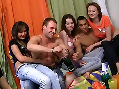 Naked dancing and wild group party gets make