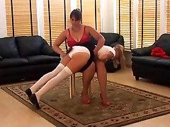Hairbrush spanking