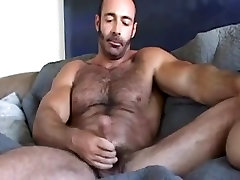 Huge hairy gay sex anal doggy style wanks off his wiener