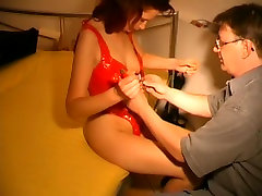 Thigh high licking pussy passionately fuck