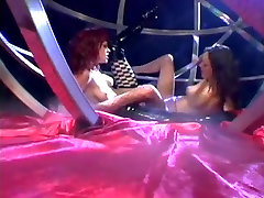 Slutty MILFs, Lesbian Fuck A Double Dildo.