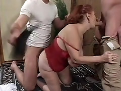 Big Tit ava addam and romie Granny Mathilda Gets Two Young Dicks