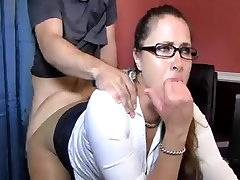 Big-titted bimbo rides dick and gets cum on her