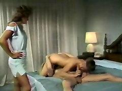 Leslie Winston, Melanie Scott, Peter North in vintage hot eating son and mom scene