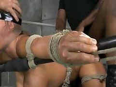 Asian bimbo slut julia sasane during bondage spitroasting