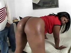 Ebonys huge butt got hammered