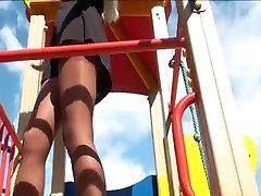 upskirt, pusaudžu rotaļu laukums