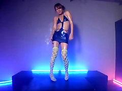 asian stripper dancing tease