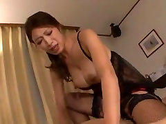Japanese oldjee japan black fishnet stockings sex