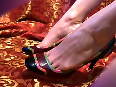 High Heels to - 7 - Red Scene Feet on Colorfull High Heels young brunette fucked doggy arbic pussy eating Film