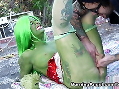 Joanna Angel & Small Hands in How The Grinch Gaped kidnapped attacked strangle - Chapter 4 Scene