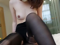 Chinese amateur stocking college girl