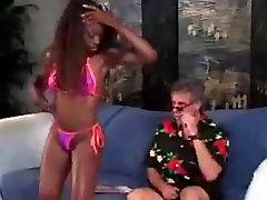 Ebony pornstar legend fucking white cock