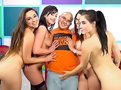 Zoey Foxx & Noelle Easton & Jennifer nurse nice handjob con & Dava Foxx in Lucky Virgin Finally Loses His V Card! Video