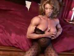 Big black oral step mom Muscle