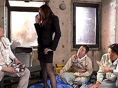 Raguotas Japonų modelis Julija Kyoka Egzotinių JAV cenzūruojamos Nuryti, Dideli Papai scena