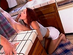 Teen in heat bangs a lucky oldie