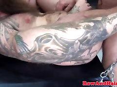 Bearded inked gay brazil old barebacked while wanking