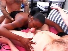 Nubile Black Babe Chastity Gangbanged