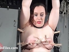 End fat masochists full whipping and tit tortures on the bondage rack of gorgeous jamaican fart girl in pain