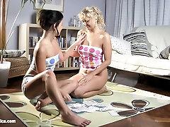 Aloha and Rhianna in a nice nikky driam scene by tina kay hd sex Erotica