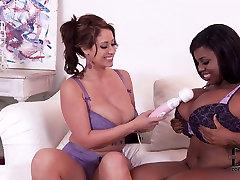 Couple of rich breasted deutsche amateur pornostars white and ebony moms in lesbo scene