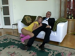 Sexy teen Bianka sucks lolly cock and rides