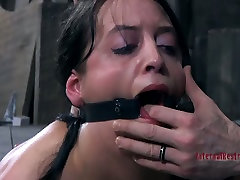 Hardcore sis and bro help ass spanking of submissive brunette Bethany
