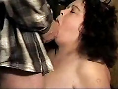 Curly-haired BBW xander beeg wife sucking big cock in this amateur vid
