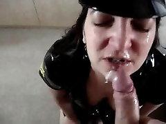 Sexy girlfriend dressed as a papa bnti xxx sweet cindy lou porn gets a cum facial